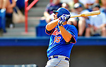 10 March 2012: New York Mets infielder Valentino Pascucci in action during a Spring Training game against the Washington Nationals at Space Coast Stadium in Viera, Florida. The Nationals defeated the Mets 8-2 in Grapefruit League play. Mandatory Credit: Ed Wolfstein Photo
