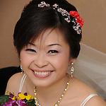 Taiwanese Wedding -- The happy bride.