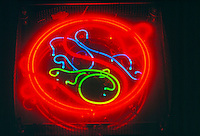 NEON SIGNS ARE POSITIVE<br /> COLUMN DISCHARGE LAMPS<br /> Abstract<br /> From Mixing Neon &amp; Other Gases<br /> Neon gas produces a red color. Almost every color other than red is produced using argon, mercury &amp; phosphor coatings. All neon tubes are positive-column discharge lamps, regardless of filling.