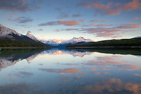Sunset at Malingne Lake in Jasper National Park