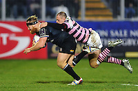 Ross Batty of Bath Rugby dives for the try-line to score his second of the match. European Rugby Challenge Cup match, between Bath Rugby and Cardiff Blues on December 15, 2016 at the Recreation Ground in Bath, England. Photo by: Patrick Khachfe / Onside Images