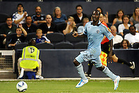 C.J Sapong Sporting KC forward in action... Sporting KC defeated San Jose Earthquakes 1-0 at LIVESTRONG Sporting Park, Kansas City, Kansas.