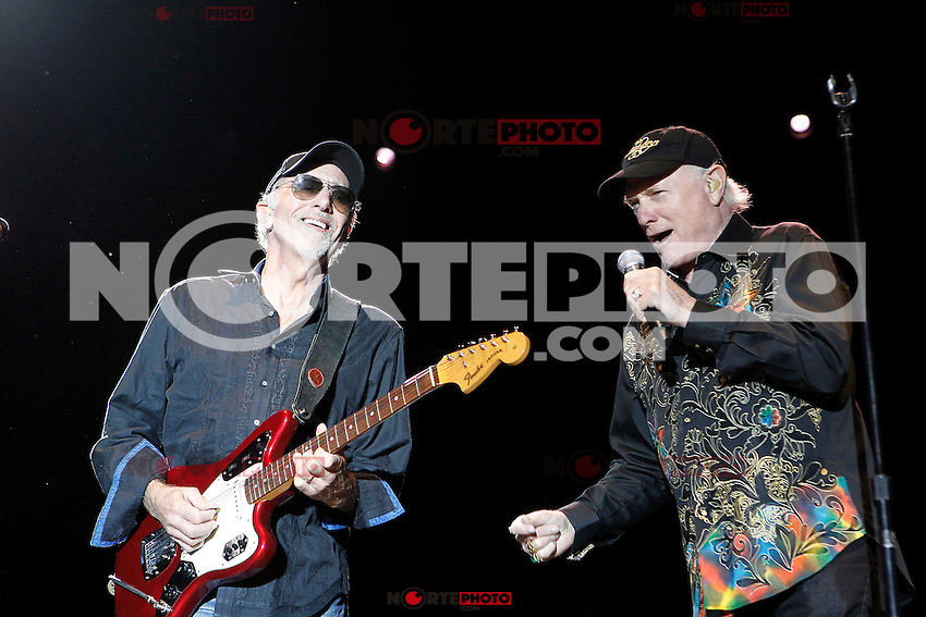 The Beach Boys in concert during the beginning of his European tour 2012. David Marks and Mike Love (r). Festival de Musicos en la Naturaleza - Festival musicians in nature. Hoyos del Espino (Natural Parc of Gredos), Avila, Spain .July 21,2012. (ALTERPHOTOS/Acero) (ALTERPHOTOS/Acero/*NORTEPHOTO*)