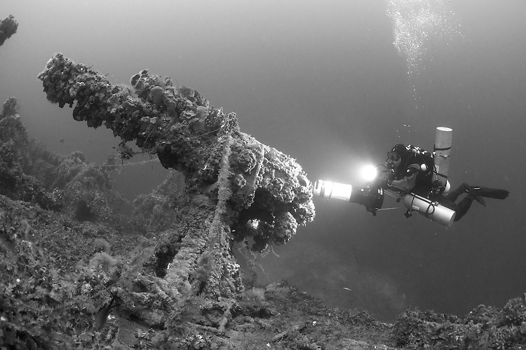 The wreck of Le Polynesien, a French passenger steamer of 6,373 tonnes that was torpedoed and sunk by German submarine UC-22 near Malta in 1918.