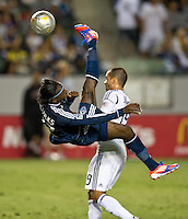 CARSON, CA - June 23, 2012: Vancouver Whitecaps forward Darren Mattocks (22) during the LA Galaxy vs Vancouver Whitecaps FC match at the Home Depot Center in Carson, California. Final score LA Galaxy 3, Vancouver Whitecaps FC 0.