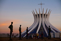 Brasilia_DF, Brasil..Catedral Metropolitana Nossa Senhora Aparecida ou Catedral de Brasilia, localizada na Esplanada dos Ministerios em Brasilia, Distrito Federal...Metropolitan Cathedral Nossa Senhora Aparecida or Cathedral of Brasilia, located at the Esplanada dos Ministerios in Brasilia, Distrito Federal...Foto: JOAO MARCOS ROSA / NITRO
