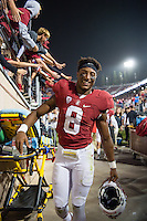 Stanford, CA - September 17, 2016: Justin Reid during the Stanford vs USC football game at Stanford Stadium. The Cardinal defeated the Trojans 27-10.