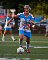 Chicago Red Stars defender Lauren Fowlkes (9).  The Boston Breakers beat the Chicago Red Stars 1-0 at Dilboy Stadium.