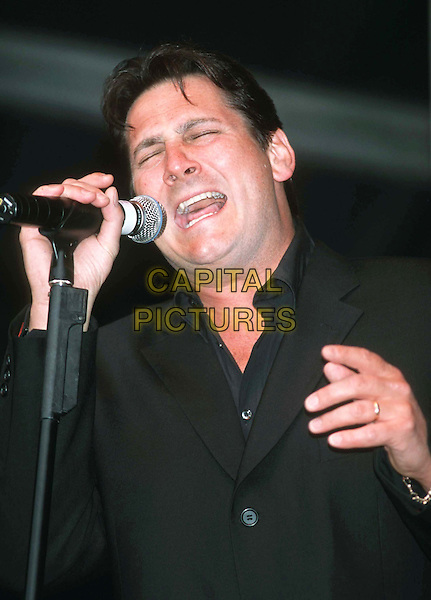 TONY HADLEY.Ref: 10897.singing, stage, live, music, headshot, portrait.www.capitalpictures.com.sales@capitalpictures.com.©Capital Pictures