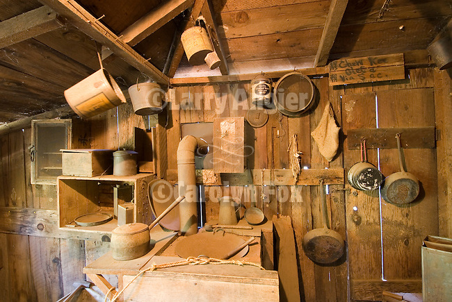 Kitchen in back of the Chew Kee Store (Chinese herb store) once owned by Chinese doctor Chew Kee during the California Gold Rush, then cared for by Jimmy Chow, adopted son until his death in 1965 in the town formally known as Oleta.