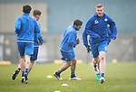 St Johnstone Training&hellip;.16.12.16<br />Brian Easton pictured during training this morning at a wet and foggy McDiarmid Park<br />Picture by Graeme Hart.<br />Copyright Perthshire Picture Agency<br />Tel: 01738 623350  Mobile: 07990 594431