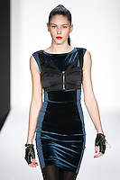Olga walks runway in a bebeBlack Fall 2011 outfit, at the Style 360 Fall 2011 fashion show, during New York Fashion Week.