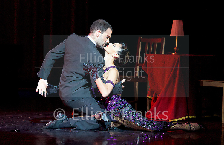 Tango Fire <br /> at The Peacock Theatre, London, Great Britain <br /> press photocall <br /> 30th January 2017 <br /> <br /> German Cornejo's Tango Fire<br /> <br /> <br /> <br /> <br /> A Los Amigos <br /> German Cornejo &amp; Gisela Galeassi <br /> <br /> <br /> <br /> <br /> Photograph by Elliott Franks <br /> Image licensed to Elliott Franks Photography Services