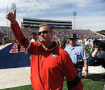 Georgia Coach Mark Richt at Vaught-Hemingway Stadium in Oxford, Miss. on Saturday, September 24, 2011. Georgia won 27-13.