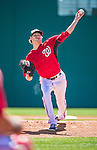 13 March 2014: Washington Nationals pitcher Ross Detwiler on the mound during a Spring Training game against the New York Mets at Space Coast Stadium in Viera, Florida. The Mets defeated the Nationals 7-5 in Grapefruit League play. Mandatory Credit: Ed Wolfstein Photo *** RAW (NEF) Image File Available ***