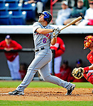 4 March 2009: New York Mets' outfielder Nick Evans in action during a Spring Training game against the Washington Nationals at Space Coast Stadium in Viera, Florida. The Nationals rallied to defeat the Mets 6-4 . Mandatory Photo Credit: Ed Wolfstein Photo