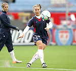 14 April 2007: United States Lauren Cheney, pregame. The United States Women's National Team defeated the Women's National Team of Mexico 5-0 at Gillette Stadium in Foxboro, Massachusetts in an international friendly game.
