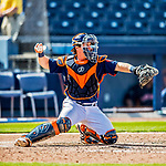 1 March 2017: Houston Astros catcher Tyler Heineman in Spring Training action against the Miami Marlins at the Ballpark of the Palm Beaches in West Palm Beach, Florida. The Marlins defeated the Astros 9-5 in Grapefruit League play. Mandatory Credit: Ed Wolfstein Photo *** RAW (NEF) Image File Available ***