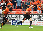 Dundee United v St Johnstone...24.08.13      SPFL<br /> Keith Watson celebrates his goal<br /> Picture by Graeme Hart.<br /> Copyright Perthshire Picture Agency<br /> Tel: 01738 623350  Mobile: 07990 594431