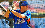4 March 2009: New York Mets' outfielder Nick Evans takes batting practice prior to a Spring Training game against the Washington Nationals at Space Coast Stadium in Viera, Florida. The Nationals rallied to defeat the Mets 6-4 . Mandatory Photo Credit: Ed Wolfstein Photo