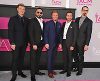 Backstreet Boys at the Academy of Country Music Awards 2017 at the T-Mobile Arena, Las Vegas, NV, USA 02 April  2017<br /> Picture: Paul Smith/Featureflash/SilverHub 0208 004 5359 sales@silverhubmedia.com