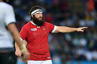 Hubert Buydens of Canada. Rugby World Cup Pool D match between Canada and Romania on October 6, 2015 at Leicester City Stadium in Leicester, England. Photo by: Patrick Khachfe / Onside Images