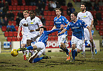 St Johnstone v Inverness Caley Thistle&hellip;09.03.16  SPFL McDiarmid Park, Perth<br />Joe Shaugnessy&rsquo;s effort goes wide of the post<br />Picture by Graeme Hart.<br />Copyright Perthshire Picture Agency<br />Tel: 01738 623350  Mobile: 07990 594431