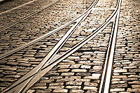 Tram Tracks in Ghent, Belgium
