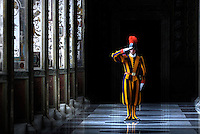 Pontifical Swiss Guard Apostolic Palace the Vatican.The Corps of the Pontifical Swiss Guard or Swiss Guard,Guardia Svizzera Pontificia,responsible for the safety of the Pope, including the security of the Apostolic Palace. It serves as the de facto military of Vatican City..10/01/2009.