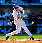 7 March 2009: New York Mets' infielder Nick Evans in action during a Spring Training game against the Washington Nationals at Tradition Field in Port St. Lucie, Florida. The Nationals defeated the Mets 7-5 in the Grapefruit League matchup. Mandatory Photo Credit: Ed Wolfstein Photo