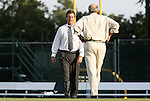 22 August 2008: UNC head coach Anson Dorrance (left) and assistant coach Bill Palladino (right). The University of North Carolina Tar Heels defeated the UNC Charlotte 49'ers 5-1 at Fetzer Field in Chapel Hill, North Carolina in an NCAA Division I Women's college soccer game.