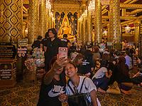 In memory of the Thai King Bhumibol Adulyade at the Wat Phra Si Rattana Mahathat Phitsanulok Thailand<br /> Phra Phut Chin Rat at Wat Phra Sri Rattana Mahathat Temple, Phitsanulok, Thailand, (The Most Beautiful Buddha Statue in Thailand)