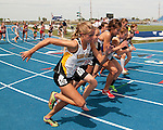 Bishop Kelly senior Emily Nist at the start of the 1600 meter run during the 4A Track and Field Championships on May 19, 2012 at Middleton High School, Middleton, Idaho. Nist finished second with at time of 5:05.73.