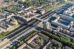 Nederland, Noord-Brabant, Den Bosch, 23-08-2016; station 's-Hertogenbosch met directe omgeving, Stationsplein en Higo de Grootplein., Paleis van Jusititie.<br /> Downtown area with central station and immediate environment.<br /> luchtfoto (toeslag op standard tarieven);<br /> aerial photo (additional fee required);<br /> copyright foto/photo Siebe Swart