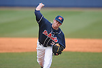 Ole Miss' Brett Huber (38) pitches vs. Wright State at Oxford University Stadium in Oxford, Miss. on Saturday, February 19, 2011.
