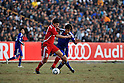 Sohib Savankulov (TJK), Ryoichi Maeda (JPN), NOVEMBER 11, 2011 - Football / Soccer : 2014 FIFA World Cup Asian Qualifiers Third round Group C match between Tajikistan 0-4 Japan at Central Stadium in Dushanbe, Tajikistan. (Photo by Jinten Sawada/AFLO)