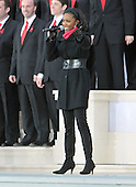 """Washington, DC - January 18, 2009 -- Heather Headley performs at the """"Today: We are One - The Obama Inaugural Celebration at the Lincoln Memorial"""" in Washington, D.C. on Sunday, January 18, 2009..Credit: Ron Sachs / CNP.(RESTRICTION: NO New York or New Jersey Newspapers or newspapers within a 75 mile radius of New York City)"""