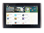 ASUS Eee Pad Transformer TF101 Android tablet computer with google marketplace on its screen isolated on white background with clipping path