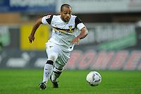 FUSSBALL   2. BUNDESLIGA   SAISON 2011/2012    7. SPIELTAG SC Paderborn 07 - Alemannia Aachen                        09.09.2011 David ODONKOR (Aachen) am Ball