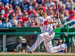 20 September 2015: Washington Nationals outfielder Jayson Werth in action against the Miami Marlins at Nationals Park in Washington, DC. The Nationals defeated the Marlins 13-3 to take the final game of their 4-game series. Mandatory Credit: Ed Wolfstein Photo *** RAW (NEF) Image File Available ***