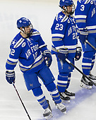 Matt Serratore (AFA - 12), Dylan Abood (AFA - 23) - The Harvard University Crimson defeated the Air Force Academy Falcons 3-2 in the NCAA East Regional final on Saturday, March 25, 2017, at the Dunkin' Donuts Center in Providence, Rhode Island.