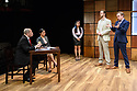 """""""CHINGLISH, by David Henry Hwang, opens at the Park Theatre. Directed by Andrew Keates, with lighting design by Christopher Nairne and set and costume design by Tim McQuillen-Wright. Picture shows: Lobo Chan (Cai Guoliang), Candy Ma (Xi Yan), Siu-see Hung (Qian), Duncan Harte (Peter Timms), Gyuri Sarossy (Daniel)"""