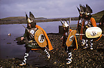 Up Helly Aa. Lerwick Sheltand. Scotland. Fire festival. <br />