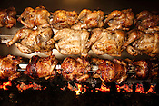 December 3, 2010. Raleigh, NC.. Chickens roast in a rotisserie brought from Peru at Mami Nora's..
