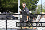 13 May 2016: Wake Forest head coach Tony Bresky. The Wake Forest University Demon Deacons hosted the Coastal Carolina University Chanticleers at the Wake Forest Tennis Center in Winston-Salem, North Carolina in a 2015-16 NCAA Division I Men's Tennis Tournament First Round match. Wake Forest won the match 4-0.