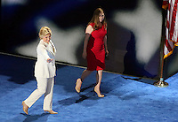 PHILADELPHIA, PA - JULY 28: Chelsea Clinton and Hillary Clinton pictured at The 2016 Democratic National Convention day 4 at The Wells Fargo Center in Philadelphia, Pennsylvania on July 28, 2016. Credit: Star Shooter/MediaPunch