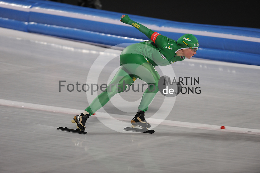 SCHAATSEN: AMSTERDAM: Olympisch Stadion, 28-02-2014, KPN NK Sprint/Allround, Coolste Baan van Nederland, Laurine van Riessen, ©foto Martin de Jong