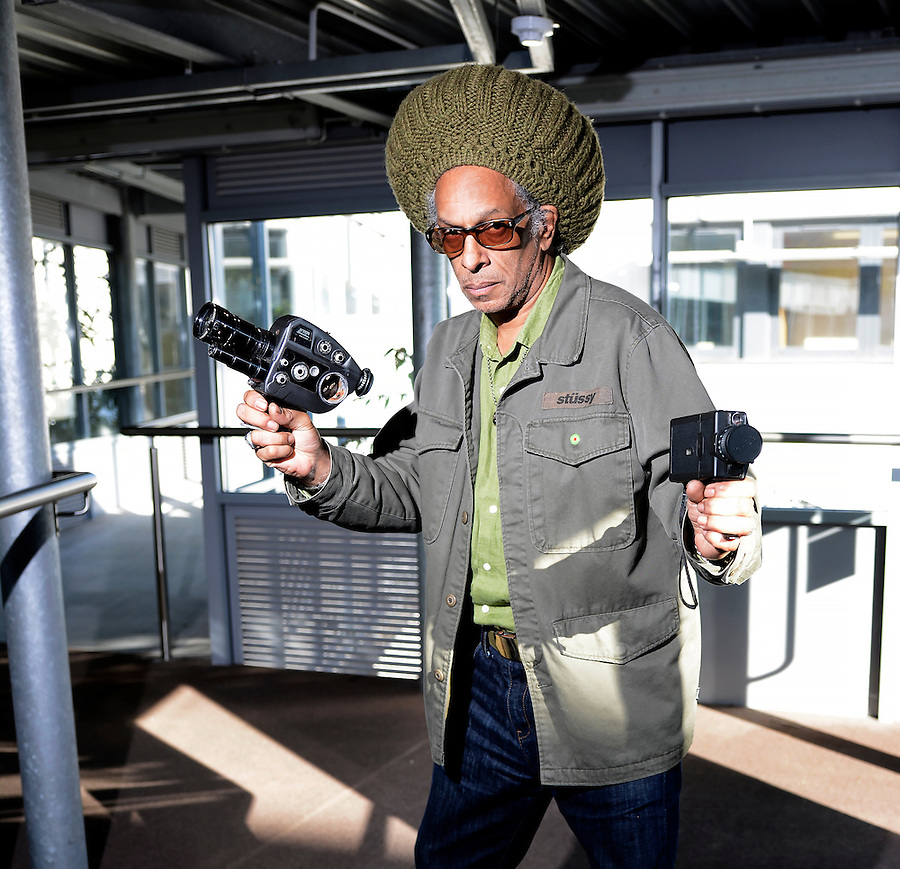 Don Letts poses for a portrait at Falmouth University