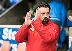 St Johnstone v Dundee&hellip;11.03.17     SPFL    McDiarmid Park<br />Paul Hartley applauds the travelling Dundee fans<br />Picture by Graeme Hart.<br />Copyright Perthshire Picture Agency<br />Tel: 01738 623350  Mobile: 07990 594431