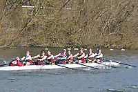 031 IM3.8+ Oxford Brookes Univ..Reading University Boat Club Head of the River 2012. Eights only. 4.6Km downstream on the Thames form Dreadnaught Reach and Pipers Island, Reading. Saturday 25 February 2012.
